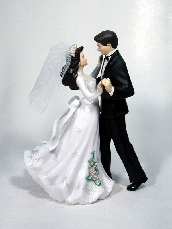 First Dance Bride and Groom Wedding Cake Top