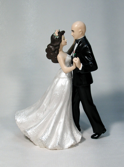 Strapless Gown Bride Wedding Cake Topper