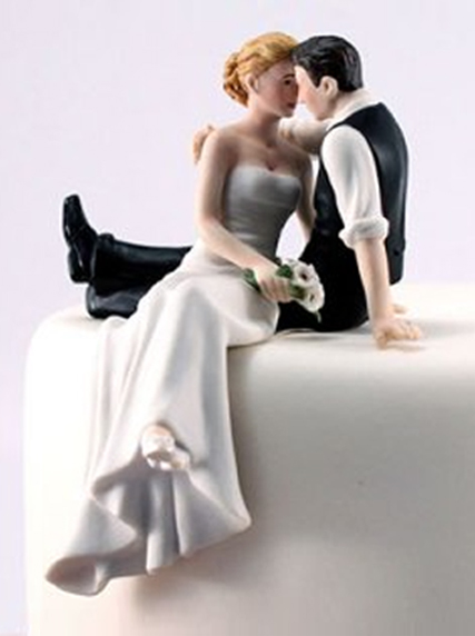Look of Love Bride and Groom Wedding Cake Tops