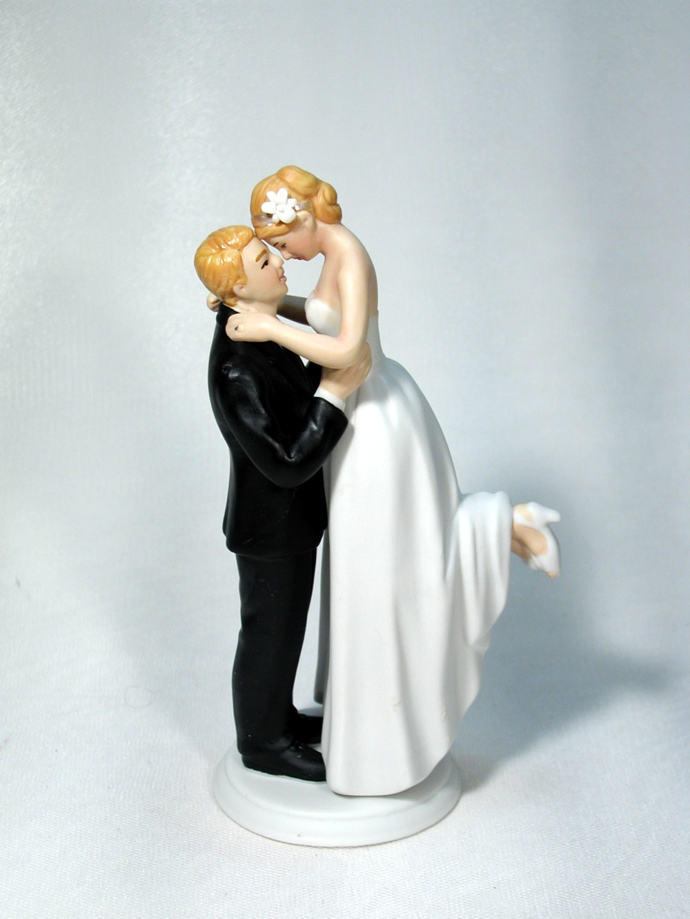 Perfect Match Traditional Bride Groom Wedding Cake Top