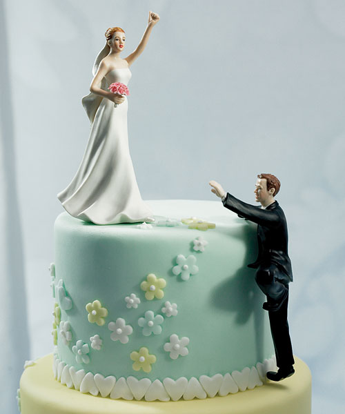 Enchantment Humorous Personalized Customized Wedding Bride And Groom Wedding Cake Toppers And