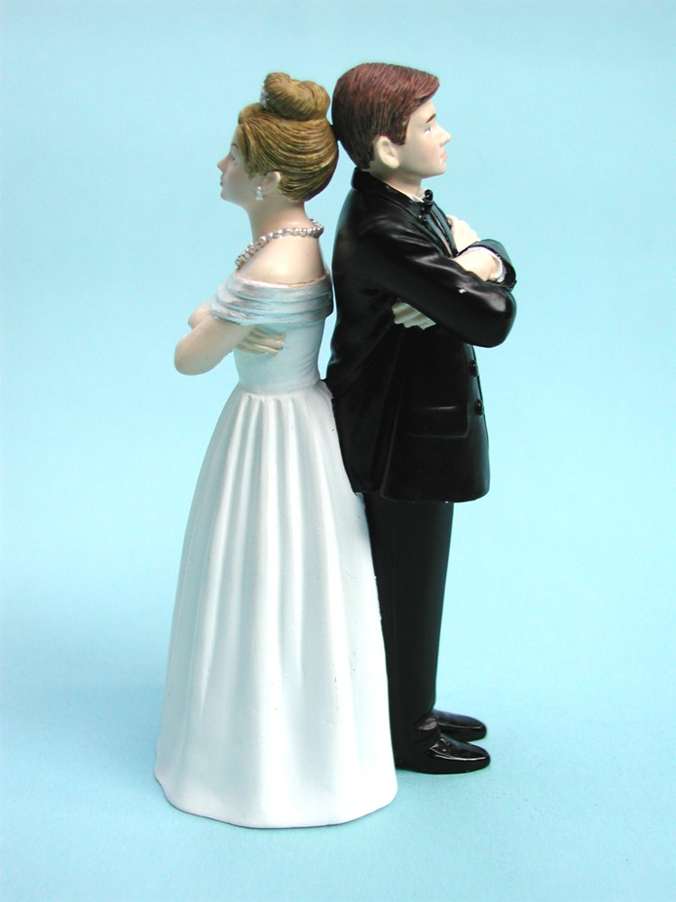 Stubborn Sweethearts Cake Topper