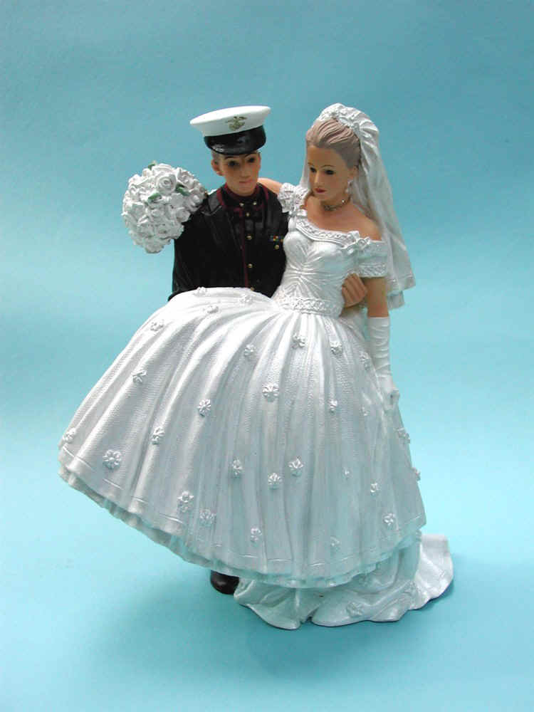 Marine Wedding Cake Toppers Image