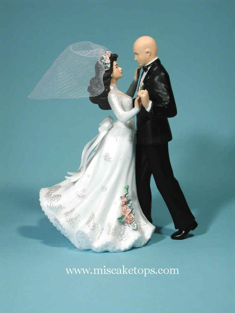 Bald Man Wedding Cake Topper