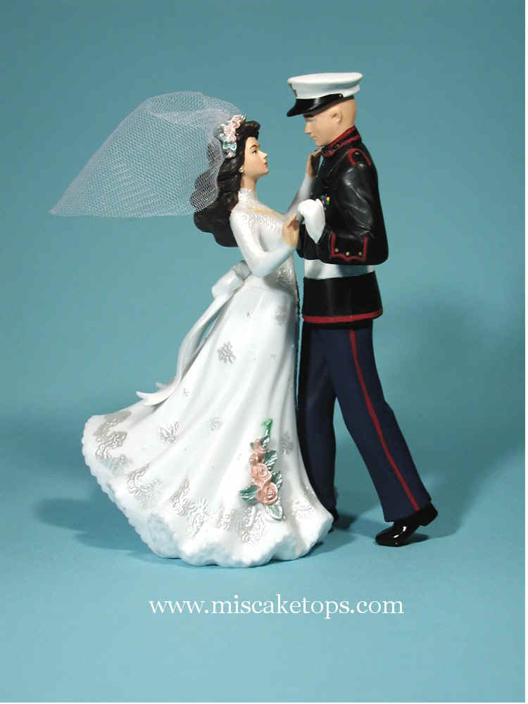 Marine Wedding Cake Toppers Show