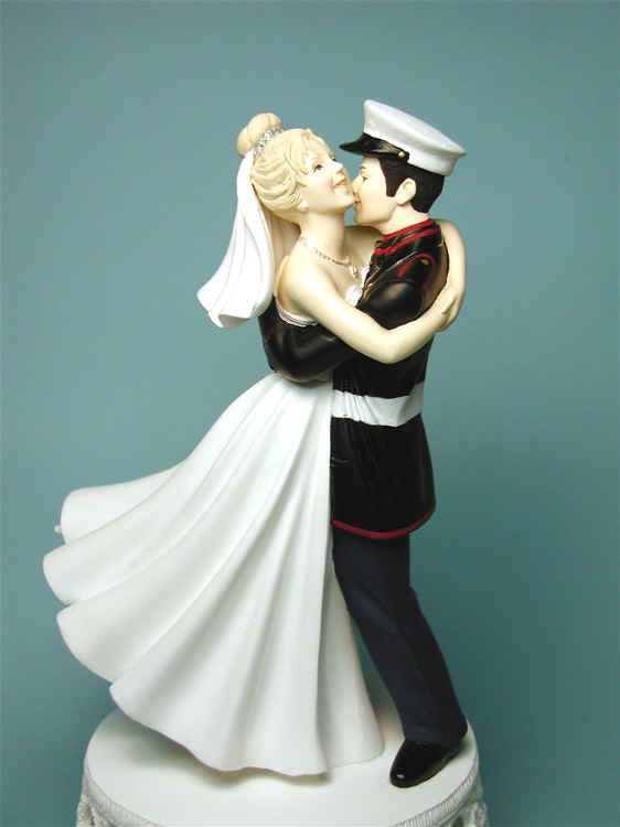 one of the few Marine Corps cake toppers that had an officer\'s ...