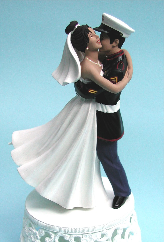 Marine Wedding Cake Toppers Photos