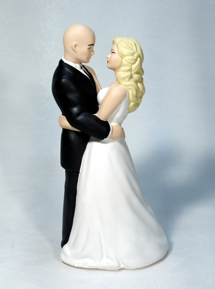 wedding cake toppers bald groom personalized customized wedding and groom wedding 26387