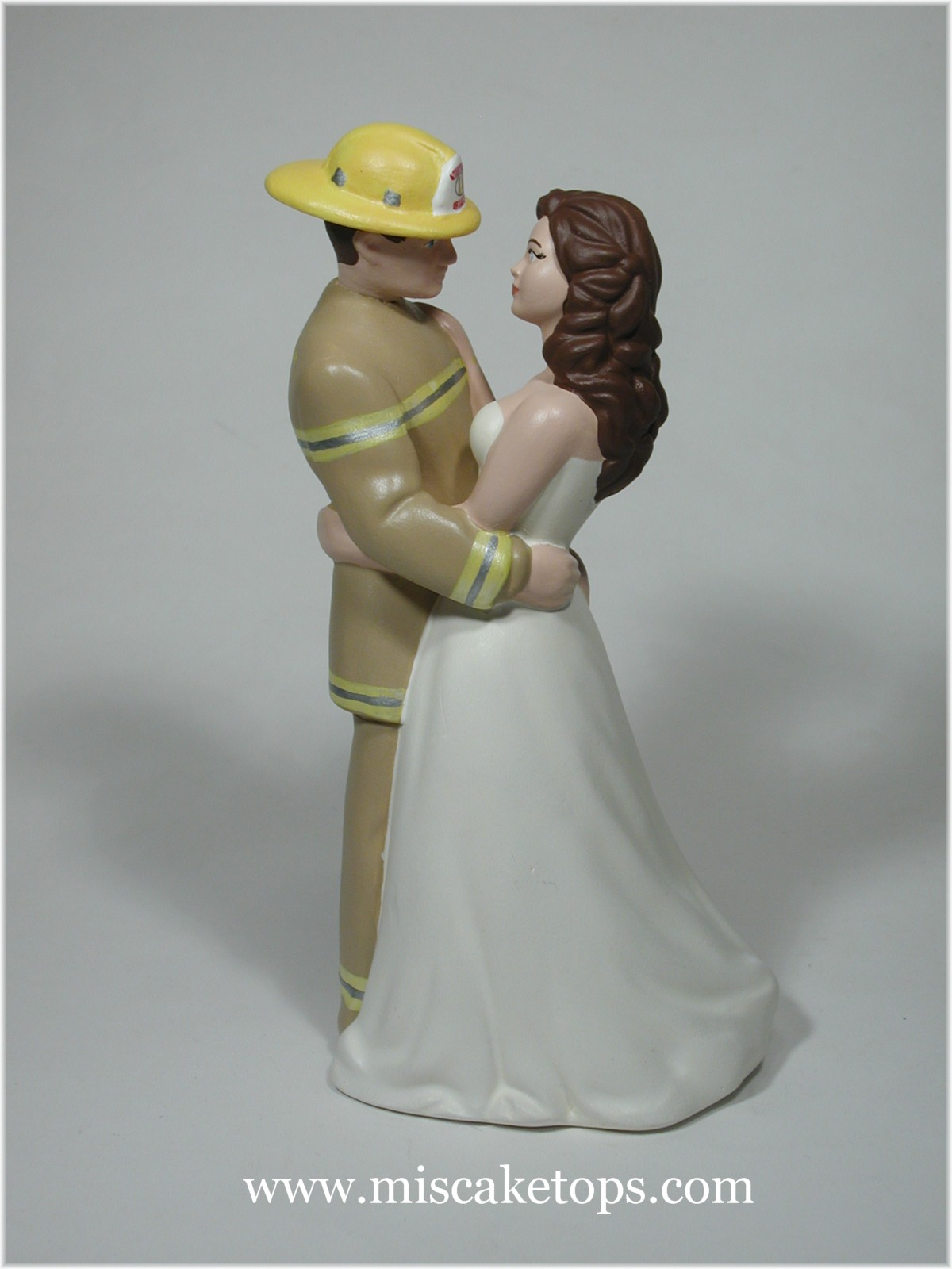 Firefighter Groom Wedding Cake Topper