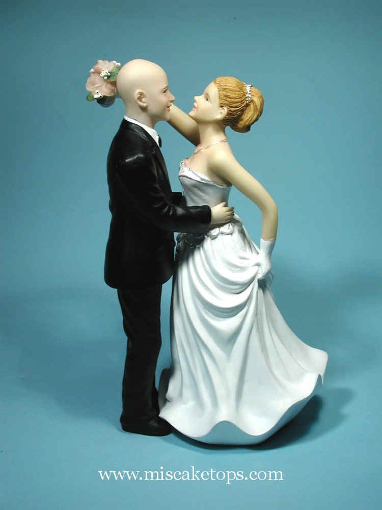 bald groom and bride wedding cake topper mirror image studios header 11050