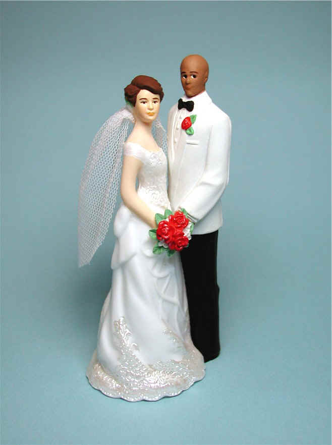 bald groom and bride wedding cake topper examples of wedding gown and tux changes personalized cake 11050