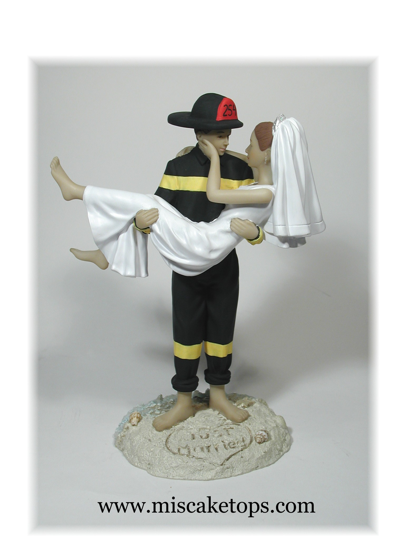 Firefighter Examples of Personalized Cake Tops