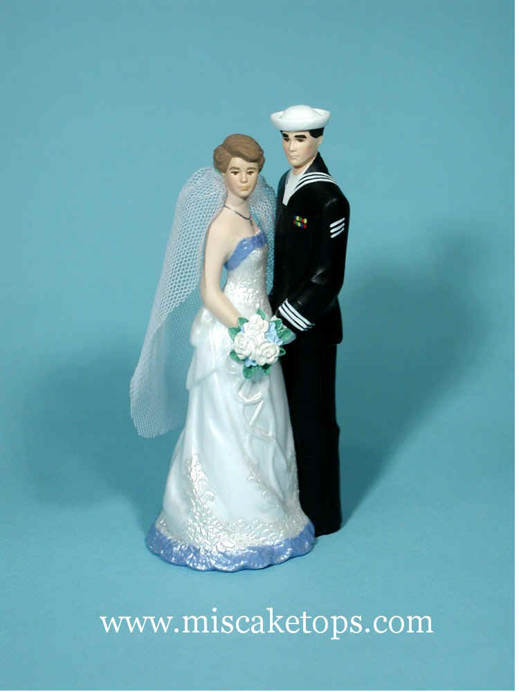 Examples of Wedding Gown and Tux Changes Personalized Cake Tops